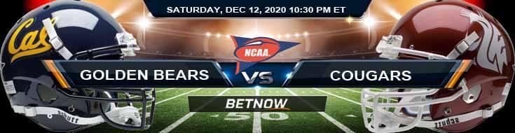 California Golden Bears vs Washington State Cougars 12-12-2020 NCAAF Game Analysis Tips & Spread