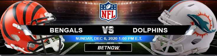 Cincinnati Bengals vs Miami Dolphins 12-06-2020 Odds Picks and Predictions