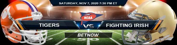 Clemson Tigers vs Notre Dame Fighting Irish 12-19-2020 NCAAF Previews Picks & Spread