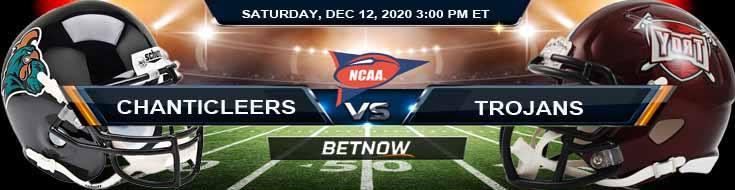 Coastal Carolina Chanticleers vs Troy Trojans 12-12-2020 NCAAF Tips Results & Predictions