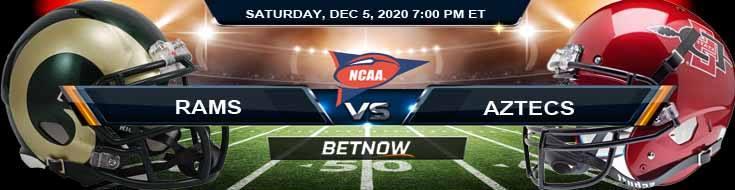 Colorado State Rams vs San Diego State Aztecs 12-5-2020 Previews Spread & NCAAF Odds