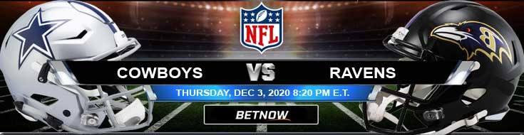 Dallas Cowboys vs Baltimore Ravens 12-08-2020 Previews Spread and Game Analysis