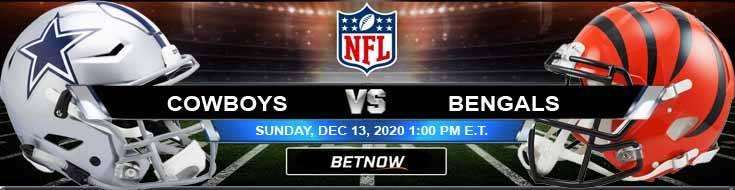 Dallas Cowboys vs Cincinnati Bengals 12-13-2020 Predictions Previews and Spread