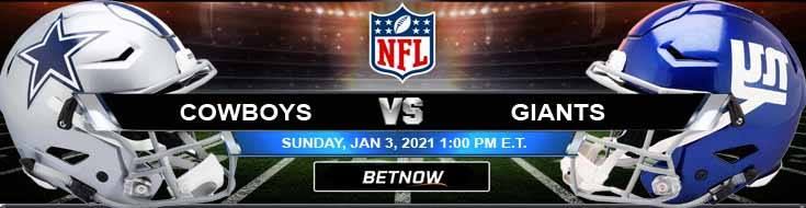 Dallas Cowboys vs New York Giants 01-03-2021 Predictions Previews and Spread