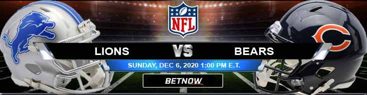 Detroit Lions vs Chicago Bears 12-06-2020 Predictions Previews and Spread