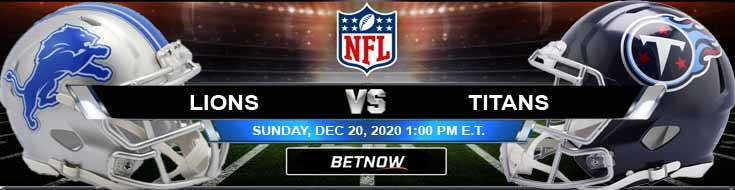 Detroit Lions vs Tennessee Titans 12-20-2020 Spread Game Analysis and Tips