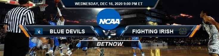 Duke Blue Devils vs Notre Dame Fighting Irish 12-16-2020 NCAAB Tips Predictions & Odds