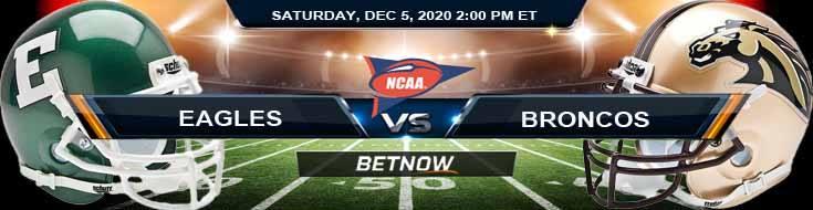 Eastern Michigan Eagles vs Western Michigan Broncos 12-5-2020 Previews Spread & NCAAF Odds