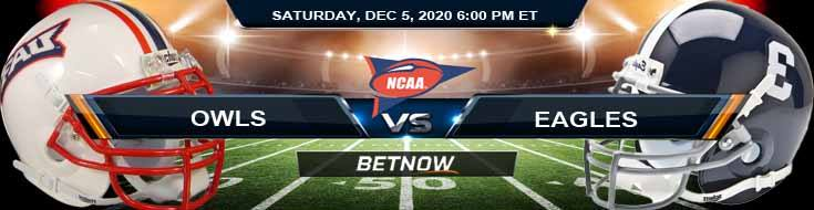 Florida Atlantic Owls vs Georgia Southern Eagles 12-5-2020 NCAAF Odds Picks & Predictions