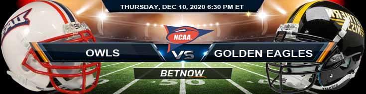 Florida Atlantic Owls vs Southern Miss Golden Eagles 12-10-2020 NCAAF Predictions Odds & Previews