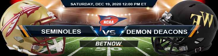 Florida State Seminoles vs Wake Forest Demon Deacons 12-19-2020 NCAAF Odds Previews & Tips