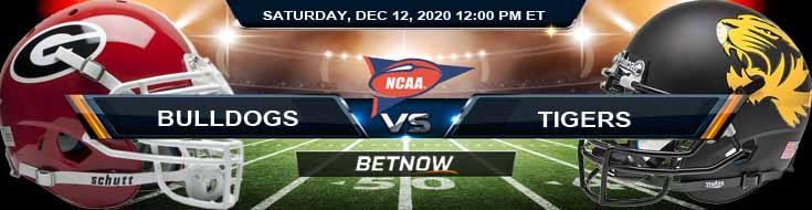 Georgia Bulldogs vs Missouri Tigers 12-12-2020 Football Betting Picks & NCAAF Tips