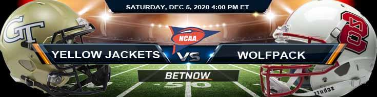 Georgia Tech Yellow Jackets vs NC State Wolfpack 12-5-2020 NCAAF Previews Tips & Game Analysis