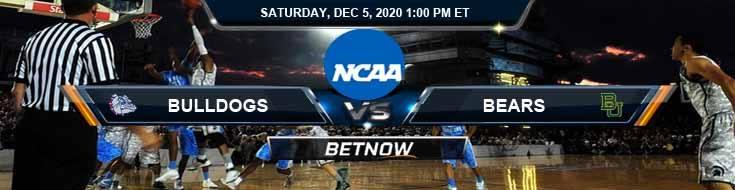 Gonzaga Bulldogs vs Baylor Bears 12-5-2020 NCAAB Previews Odds & Spread