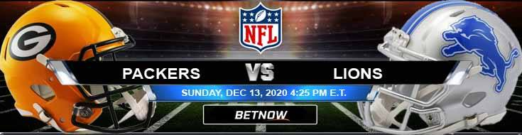 Green Bay Packers vs Detroit Lions 12-13-2020 Odds Picks and Predictions
