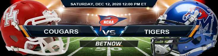 Houston Cougars vs Memphis Tigers 12-12-2020 NCAAF Forecast Odds & Spread