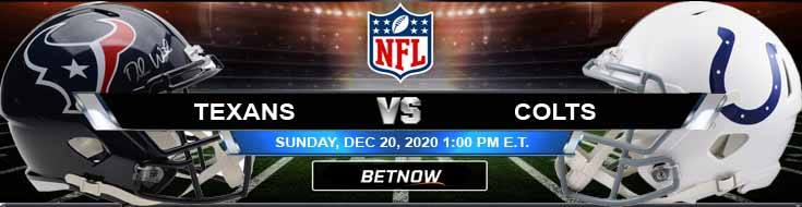 Houston Texans vs Indianapolis Colts 12-20-2020 Game Analysis Tips and Forecast
