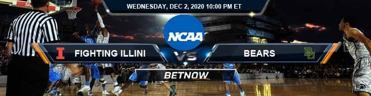 Illinois Fighting Illini vs Baylor Bears 12-2-2020 NCAAB Forecast Odds & Spread