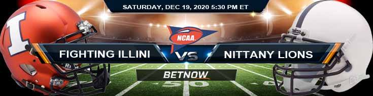 Illinois Fighting Illini vs Penn State Nittany Lions 12-19-2020 NCAAF Results Odds & Predictions