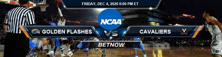 Kent State Golden Flashes vs Virginia Cavaliers 12-4-2020 NCAAB Predictions Previews & Spread