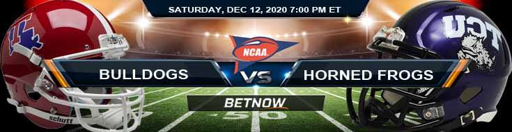 LA Tech Bulldogs vs TCU Horned Frogs 12-12-2020 NCAAF Forecast Odds & Spread
