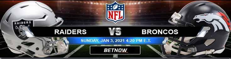 Las Vegas Raiders vs Denver Broncos 01-03-2021 Previews Spread and Game Analysis