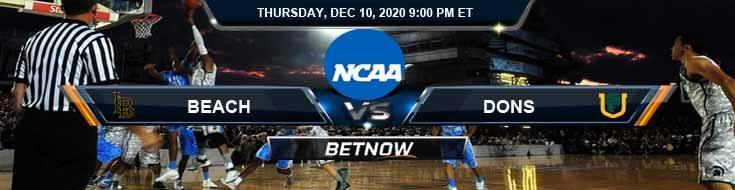 Long Beach State Beach vs San Francisco Dons 12-10-2020 NCAAB Predictions Picks & Previews