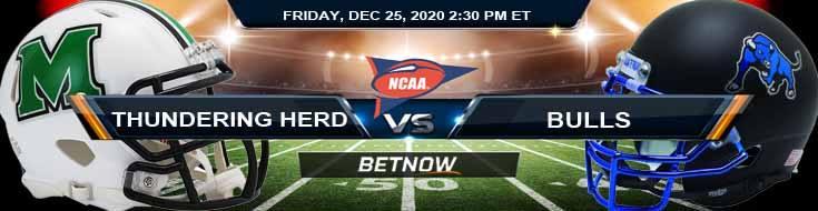 Marshall Thundering Herd vs Buffalo Bulls 12-25-2020 Football Betting Results and Analysis