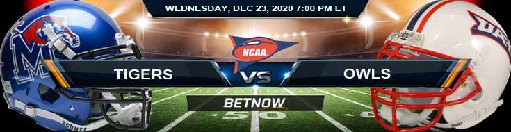 Memphis Tigers vs Florida Atlantic Owls 12-23-2020 NCAAF Game Analysis Odds & Spread