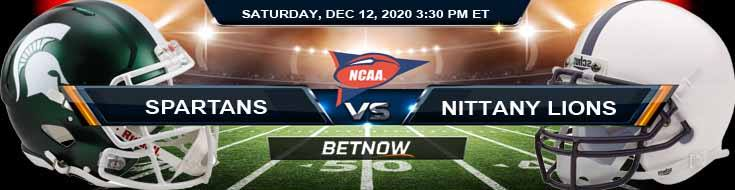 Michigan State Spartans vs Penn State Nittany Lions 12-12-2020 NCAAF Previews Odds & Spread