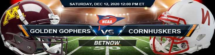 Minnesota Golden Gophers vs Nebraska Cornhuskers 12-12-2020 NCAAF Predictions Picks & Previews