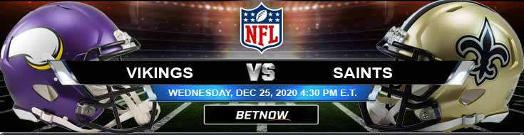 Minnesota Vikings vs New Orleans Saints 12-25-2020 Odds NFL Picks and Predictions