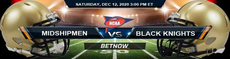 Navy Midshipmen vs Army Black Knights 12-12-2020 NCAAF Previews Tips & Results