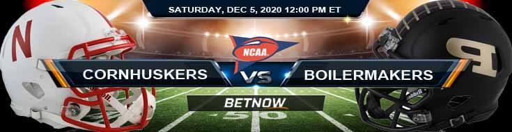 Nebraska Cornhuskers vs Purdue Boilermakers 12-5-2020 NCAAF Odds Previews & Tips