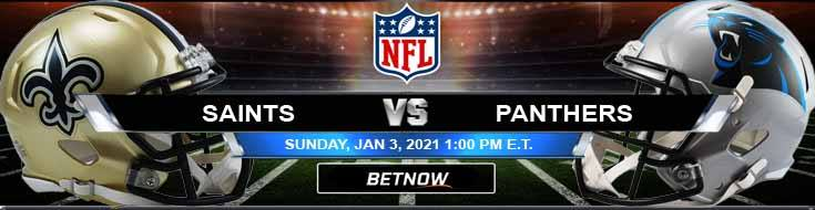 New Orleans Saints vs Carolina Panthers 01-03-2021 Analysis Results and Football Betting