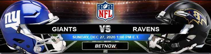 New York Giants vs Baltimore Ravens 12-27-2020 Results Football Betting and Odds