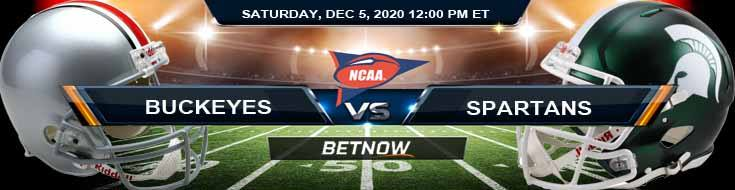 Ohio State Buckeyes vs Michigan State Spartans 12-5-2020 NCAAF Tips Forecast & Analysis