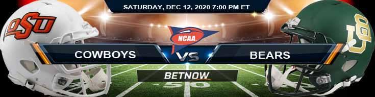 Oklahoma State Cowboys vs Baylor Bears 12-12-2020 NCAAF Picks Previews & Game Analysis