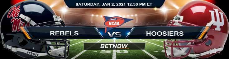 Ole Miss Rebels vs Indiana Hoosiers 01-02-2021 Picks NCAAF Predictions and Previews