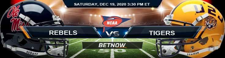 Ole Miss Rebels vs LSU Tigers 12-19-2020 NCAAF Game Analysis Forecast & Tips