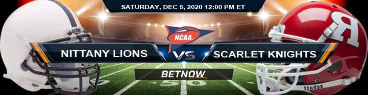 Penn State Nittany Lions vs Rutgers Scarlet Knights 12-5-2020 NCAAF Spread Picks & Previews