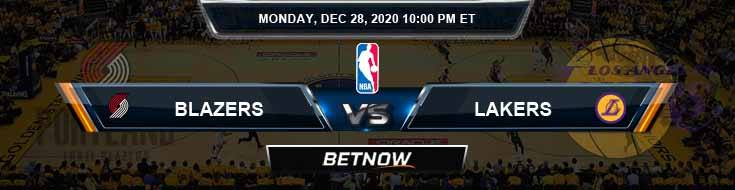 Portland Trail Blazers vs Los Angeles Lakers 12-28-2020 NBA Odds and Picks