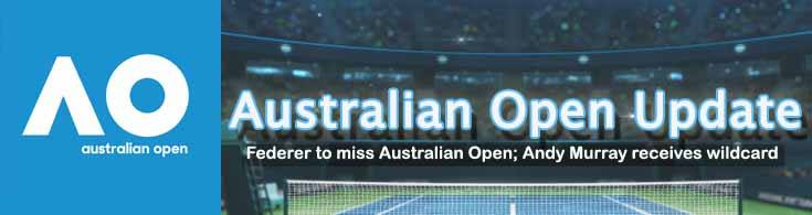 Recovering Federer to Miss Australian Open Andy Murray Receives Wildcard