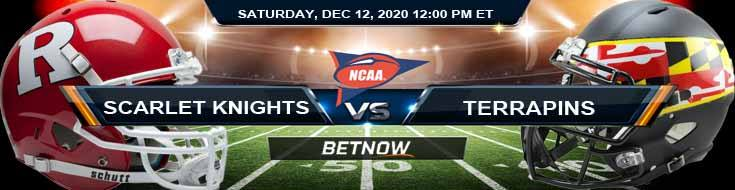 Rutgers Scarlet Knights vs Maryland Terrapins 12-12-2020 NCAAF Previews Spread & Game Analysis