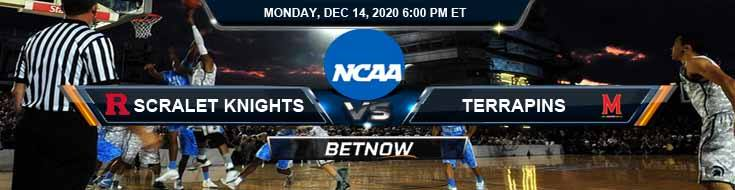 Rutgers Scarlet Knights vs Maryland Terrapins 12-14-2020 Tips NCAAB Odds & Picks