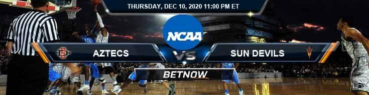 San Diego State Aztecs vs Arizona State Sun Devils 12-10-2020 NCAAB Picks Previews & Game Analysis