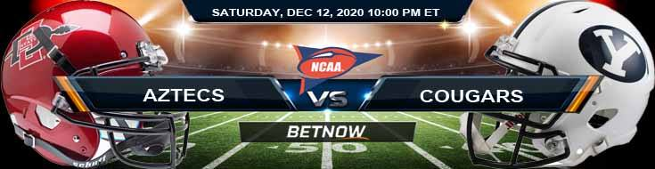 San Diego State Aztecs vs BYU Cougars 12-12-2020 NCAAF Predictions Odds & Previews
