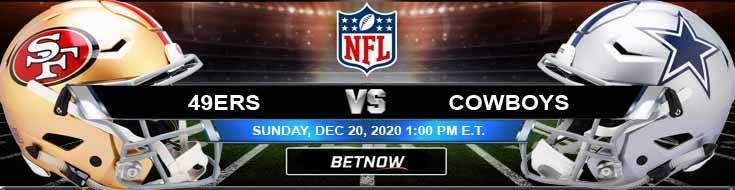 San Francisco 49ers vs Dallas Cowboys 12-20-2020 Analysis Results and Football Betting