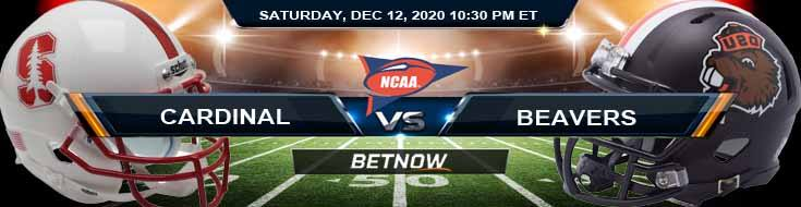 Stanford Cardinal vs Oregon State Beavers 12-12-2020 NCAAF Predictions Previews & Spread