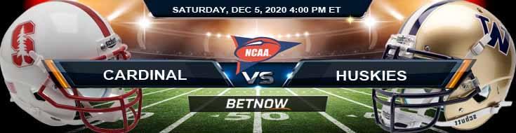 Stanford Cardinal vs Washington Huskies 12-5-2020 NCAAF Forecast Odds & Spread